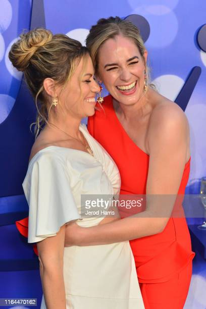 Bethany Joy Lenz and Brittany Bristow attend Hallmark Channel and Hallmark Movies Mysteries Summer 2019 TCA Press Tour Event Cocktail Reception at...