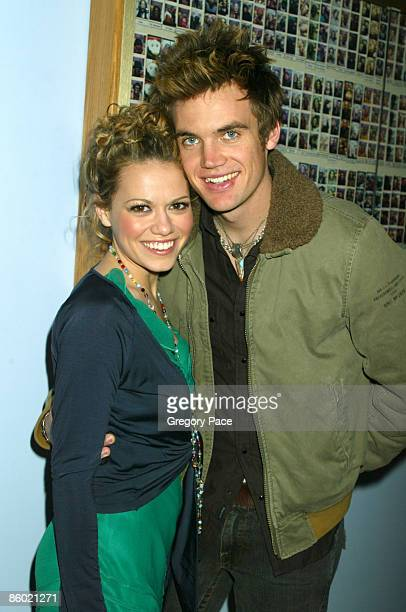 Bethany Joy Lenz and Tyler Hilton backstage at 'TRL'