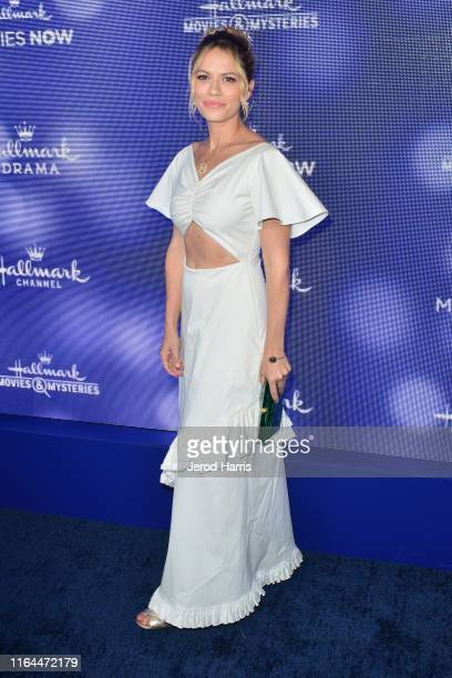 Bethany Joy Lenz arrives at Hallmark Channel And Hallmark Movies Mysteries Summer 2019 TCA Press Tour Event at Private Residence on July 26 2019 in...