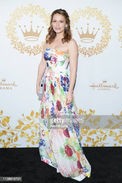 Bethany Joy Lenz attends Hallmark Channel And Hallmark Movies And Mysteries 2019 Winter TCA Tour at Tournament House on February 09 2019 in Pasadena...
