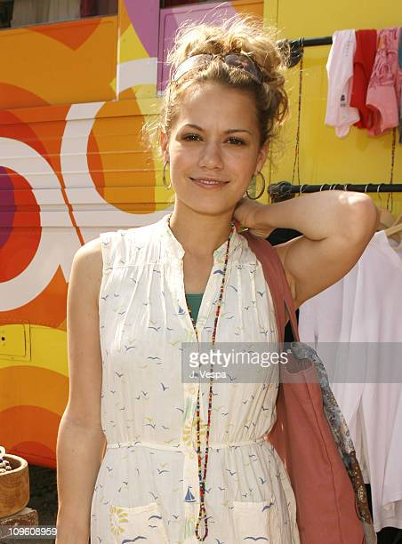 Bethany Joy Lenz during GAP Rock Color Bus Tour May 11 2006 at The Grove in Los Angeles California United States