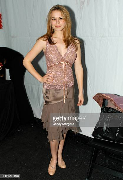 Bethany Joy Lenz during Olympus Fashion Week Fall 2005 Day Five Backstage at Bryant Park in New York City New York United States