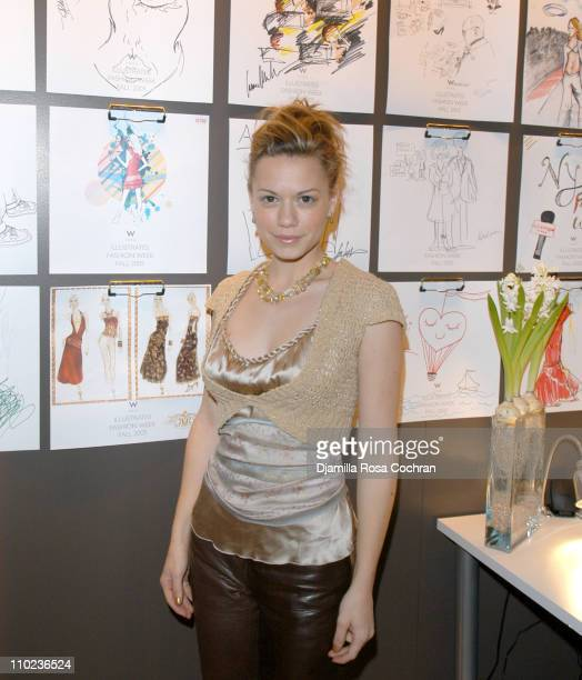 Bethany Joy Lenz during Olympus Fashion Week Fall 2005 W Hotel VIP Lounge Day 3 at Bryant Park in New York City New York United States