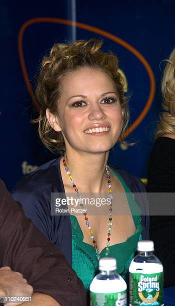 Bethany Joy Lenz during The Cast of 'One Tree Hill' Signs Their DVD and Soundtrack CD at FYE in New York City at FYE in New York City New York United...