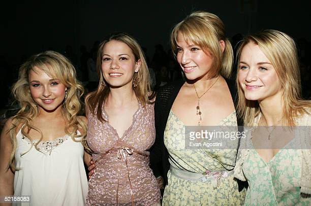 Bethany Joy Lenz Hayden Panettierre Ari Graynor and Kate Reinders attend the Rebecca Taylor Fall 2005 fashion show during the Olympus Fashion Week at...