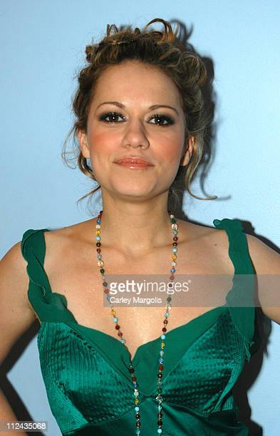 Bethany Joy Lenz of One Tree Hill during The Cast of One Tree Hill Takes Over MTV's TRL January 25 2005 at MTV Studios in New York City New York...