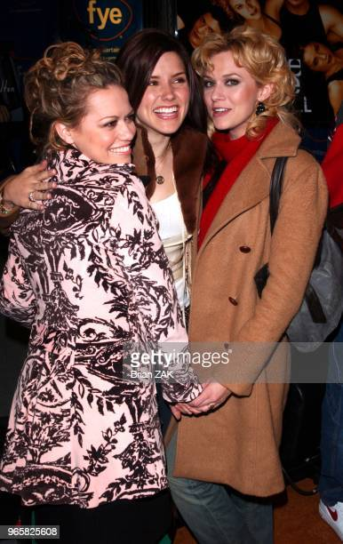 Bethany Joy Lenz Sophie Bush and Hilarie Burton of the WB's 'One Tree Hill' cast at FYE Music Store New York City