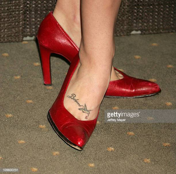 Bethany Joy Lenz's shoes and tattoo during InStyle Magazine and the DIC Host Luncheon to Celebrate 2005 Awards Season in Beverly Hills California...