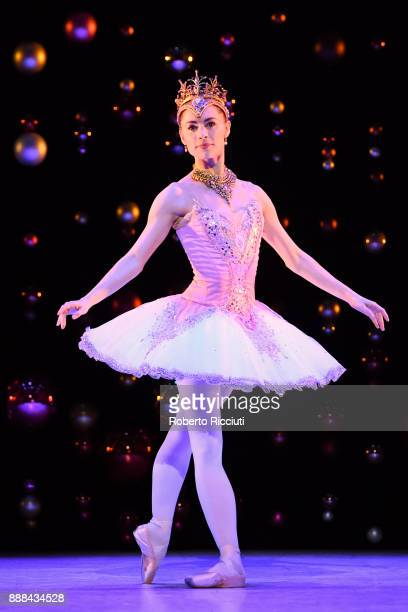 Bethany KingsleyGarner of Scottish Ballet performs on stage during the 'The Nutcracker' photocall at Festival Theatre on December 8 2017 in Edinburgh...