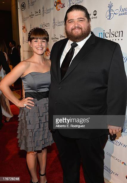 Bethany Leigh Shady and actor Jorge Garcia arrive to the 28th Annual Imagen Awards at The Beverly Hilton Hotel on August 16 2013 in Beverly Hills...
