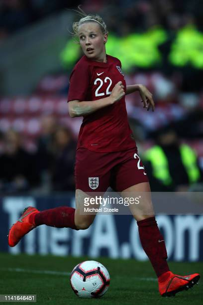 Bethany Mead of England during the International Friendly between England Women and Spain Women at County Ground on April 09 2019 in Swindon England