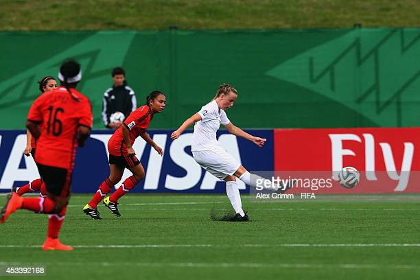 Bethany Mead of England scores her team's first goal during the FIFA U20 Women's World Cup Canada 2014 group C match between England and Mexico at...
