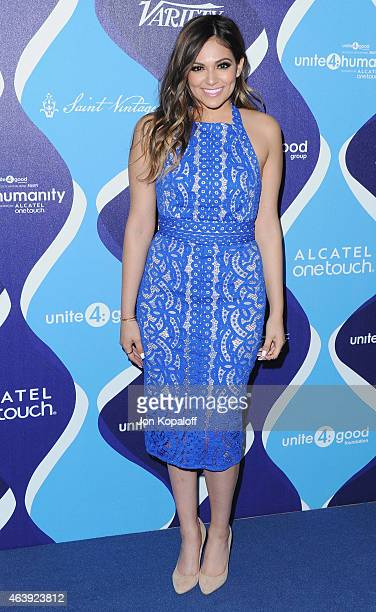 Bethany Mota arrives at the 2nd Annual Unite4humanity Event at The Beverly Hilton Hotel on February 19 2015 in Beverly Hills California