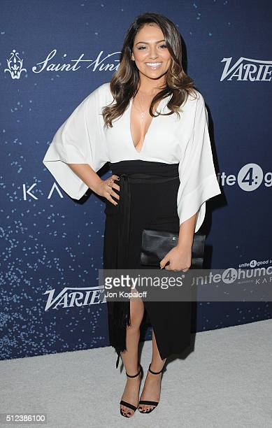 Bethany Mota arrives at the 3rd Annual unite4humanity at Montage Hotel on February 25 2016 in Beverly Hills California