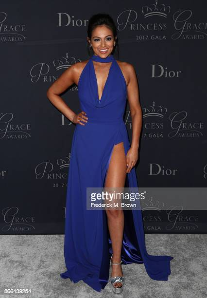 Bethany Mota attends 2017 Princess Grace Awards Gala at The Beverly Hilton Hotel on October 25 2017 in Beverly Hills California