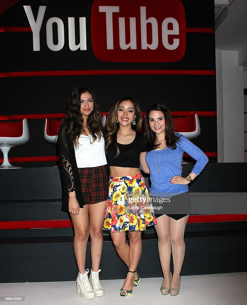 Bethany mota michelle phan and rosanna pansino attend the unleash unleash youtube event and fan meet up news photo m4hsunfo