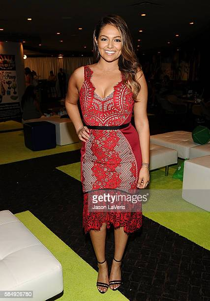 Bethany Mota poses in the green room at the 2016 Teen Choice Awards at The Forum on July 31 2016 in Inglewood California