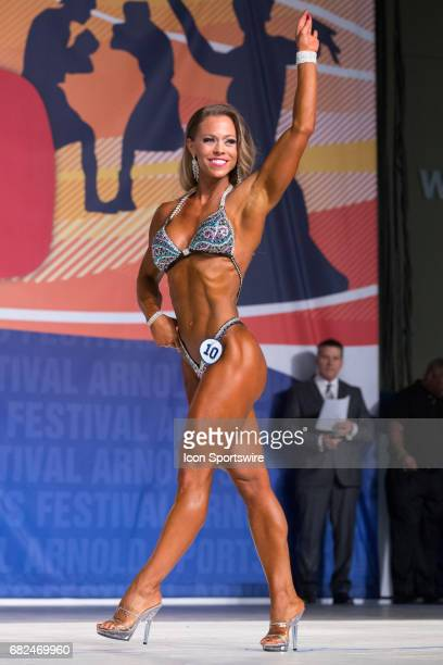 Bethany Wagner competes in Fitness International as part of the Arnold Sports Festival on March 3 at the Greater Columbus Convention Center in...