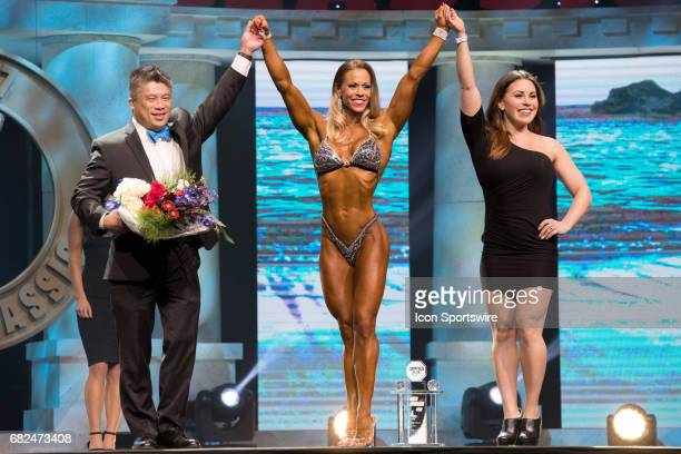 Bethany Wagner is awarded fourth place in Fitness International as part of the Arnold Sports Festival on March 3 at the Greater Columbus Convention...