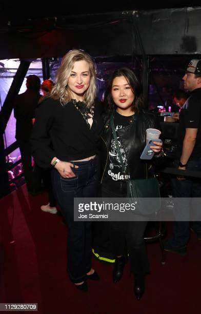 Bethany Watson and guest attend Bohemian Rhapsody's Get Loud Extravaganza at Whiskey a Go Go on February 12 2019 in Los Angeles California