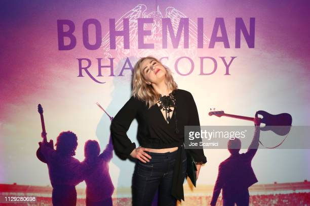Bethany Watson attends Bohemian Rhapsody's Get Loud Extravaganza at Whiskey a Go Go on February 12 2019 in Los Angeles California