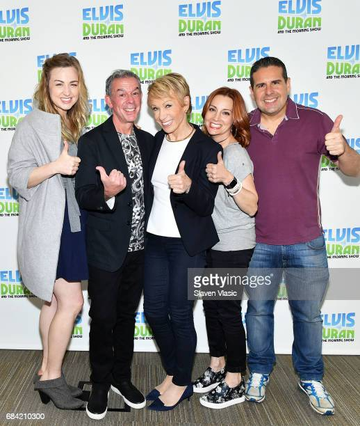 Bethany Watson Elvis Duran Barbara Corcoran Danielle Monaro and Skeery Jones pose for photos at The Elvis Duran Z100 Morning Show at Z100 Studio on...