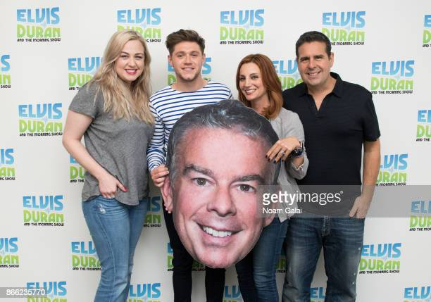 Bethany Watson Niall Horan Danielle Monaro and Skeery Jones pose backstage at The Elvis Duran Z100 Morning Show at Z100 Studio on October 25 2017 in...