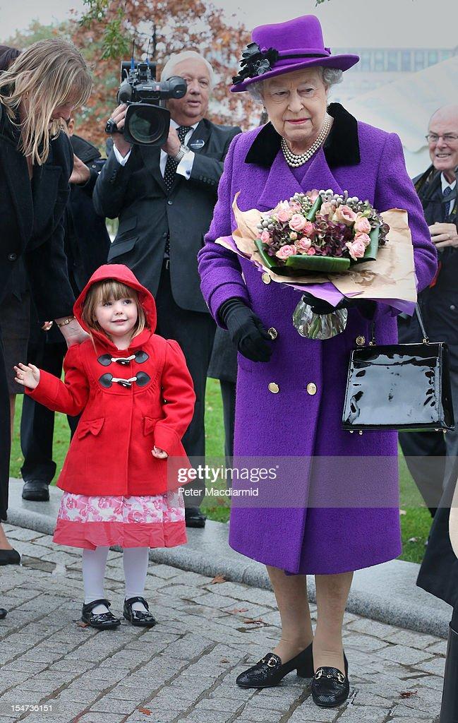 Queen Elizabeth II And The Duke Of Edinburgh Open The Newly Developed Jubilee Gardens : News Photo