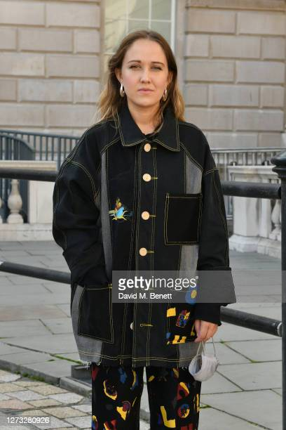 Bethany Williams attends the Bethany Williams exhibition during London Fashion Week September 2020 at Somerset House on September 18, 2020 in London,...