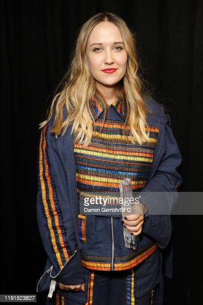 Bethany Williams backstage stage during The Fashion Awards 2019 held at Royal Albert Hall on December 02, 2019 in London, England.