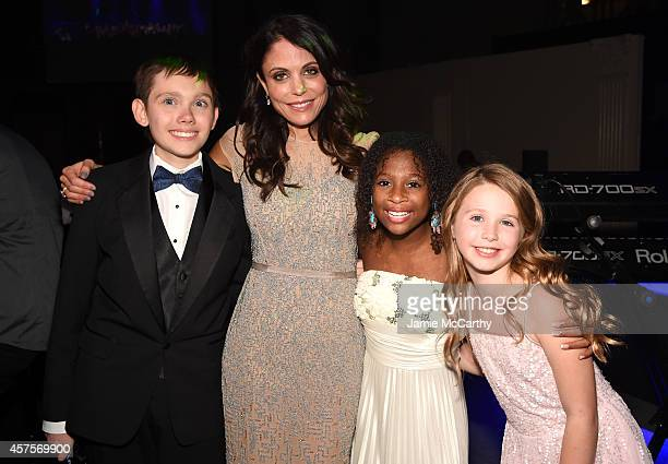 Bethenney Frankel poses with Jaiman Jozlyn and Arabelle of Children's National Health System during Angel Ball 2014 hosted by Gabrielle's Angel...