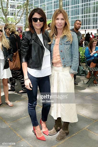Bethenny Frankel and Carole Radziwill attend Bethenny Frankel in Conversation with Carole Radziwill at The Bryant Park Reading Room on May 20 2015 in...