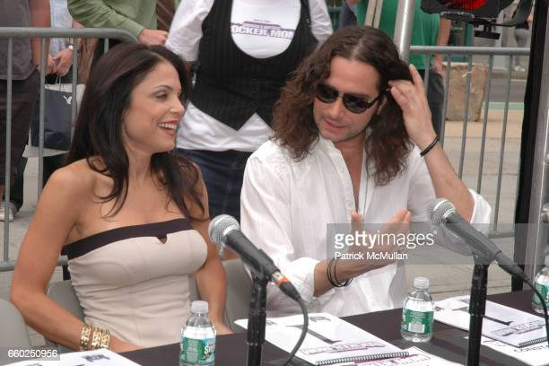 Bethenny Frankel and Constantine Maroulis attend IFC CELEBRATES SEASON 2 OF ROCK WITH AMERICA'S HOTTEST ROCKER MOM CONTEST at Madison Square Park on...