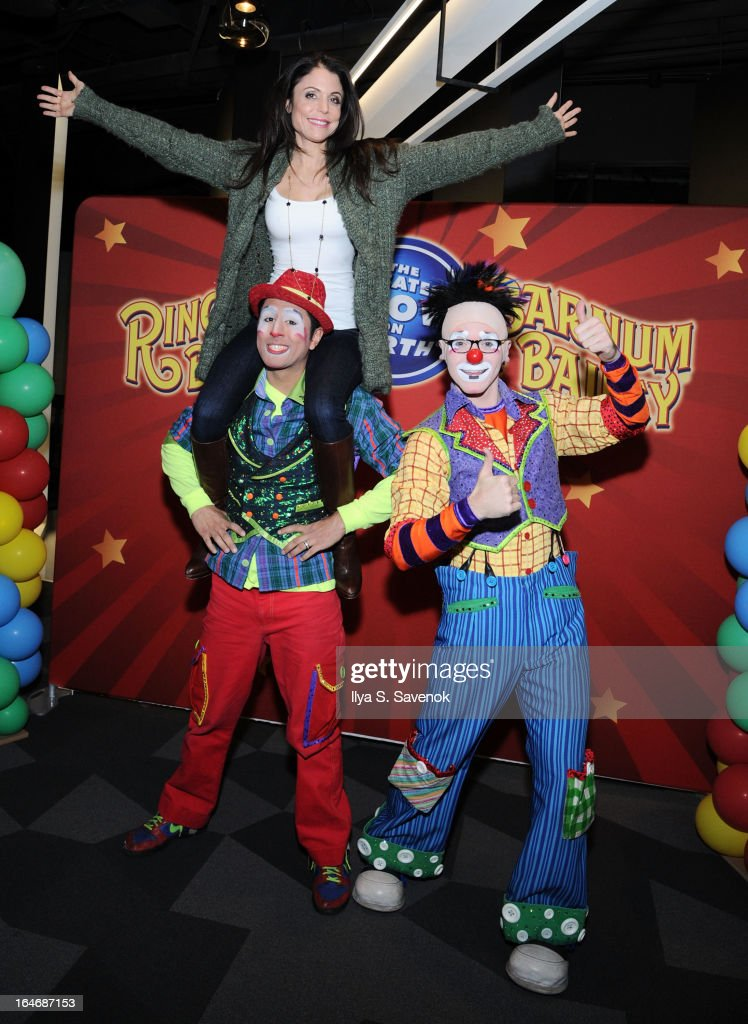 Bethenny Frankel and family attend Ringling Bros. And Barnum & Bailey Built To Amaze! at Barclay Center on March 26, 2013 in the Brooklyn borough of New York City.