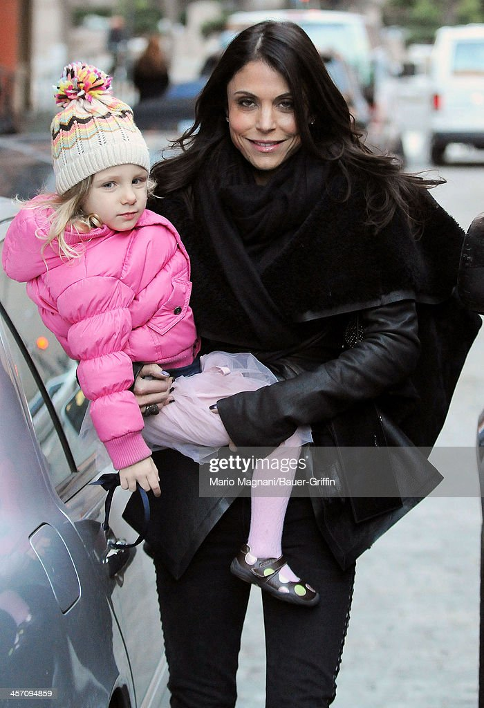 Bethenny Frankel and her daughter, Bryn Hoppy, are seen on December 16, 2013 in New York City.