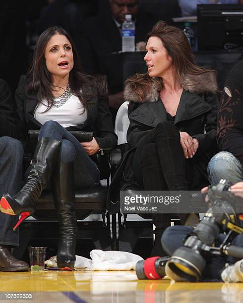 Bethenny Frankel and her husband Jason Hoppy attend a game between the Sacramento Kings and the Los Angeles Lakers at Staples Center on December 3...