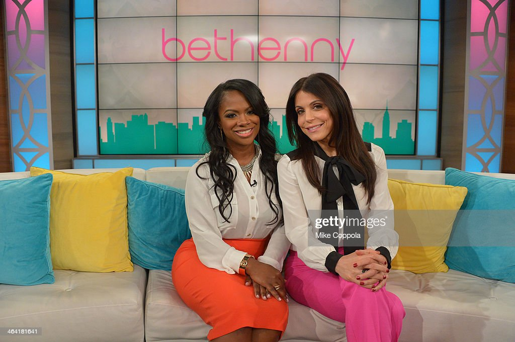 Bethenny Frankel (R) hosts Kandi Burruss (L), Renee Graziano (not pictured), Alicia Quarles (not pictured) and Dr. Travis Stork (not pictured) at CBS Broadcast Center January 21, 2014 in New York City. The show will air January 22.