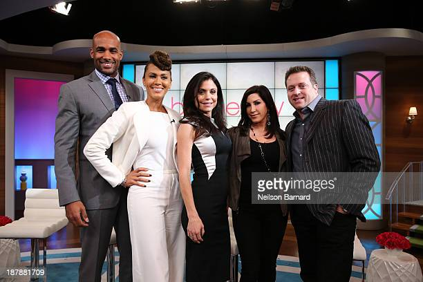 Bethenny Frankel hosts Kenny 'Babyface' Edmonds Boris Kodjoe Nicole Ari Parker Jacqueline Laurita and Chris Laurita on 'bethenny' at CBS Broadcast...