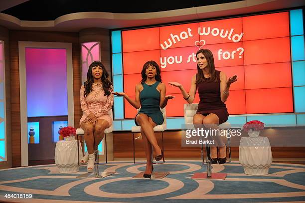 Bethenny Frankel hosts Kim Richards Elise Neal Bresha Webb Heather Dubrow and talks about winter skin remedies on bethenny at CBS Broadcast Center...
