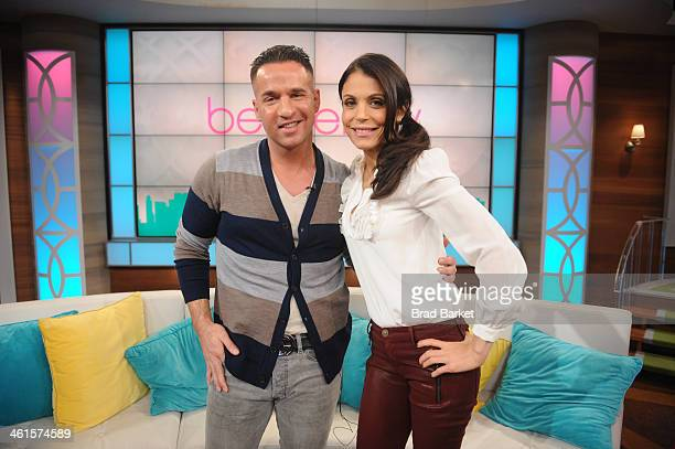 "Bethenny Frankel hosts Mike ""The Situation"" Sorrentino on ""bethenny"" at CBS Broadcast Center December 19, 2013 in New York City. The show will air..."