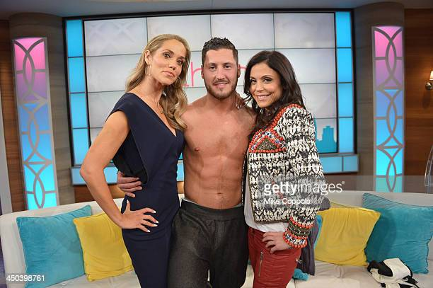 Bethenny Frankel hosts Tyson Beckford Elizabeth Berkley and Val Chmerkovskiy on bethenny at CBS Broadcast Center on November 18 2013 in New York City