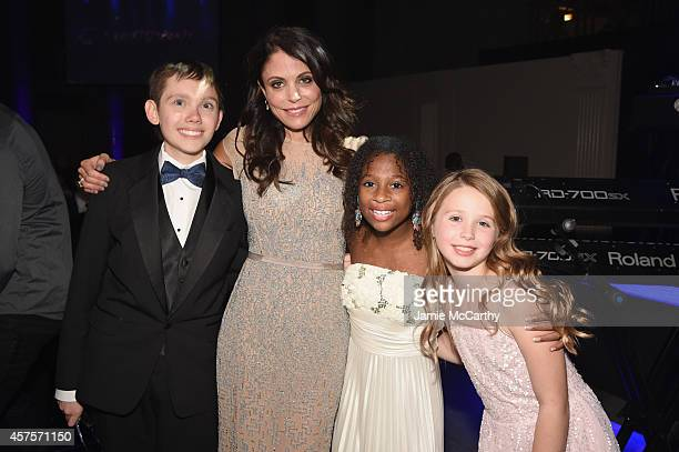 Bethenny Frankel pose with Jozlyn Jaiman and Arabelle of Children's National Health System at the Angel Ball 2014 hosted by Gabrielle's Angel...
