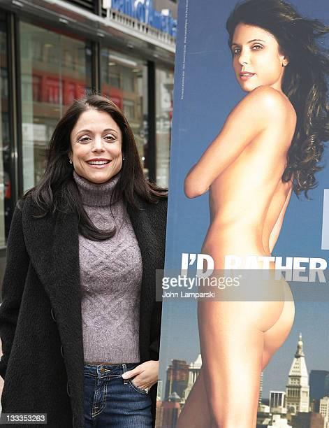 Bethenny Frankel unveils her PETA 'Fur I'd Rather Go Naked' Billboard in Times Square on December 15 2009 in New York City