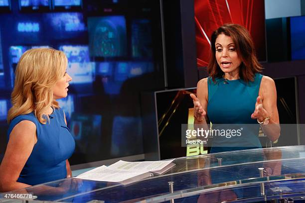 Bethenny Frankel visits 'After The Bell' with host Melissa Francis on FOX Business Network at FOX Studios on June 9 2015 in New York City