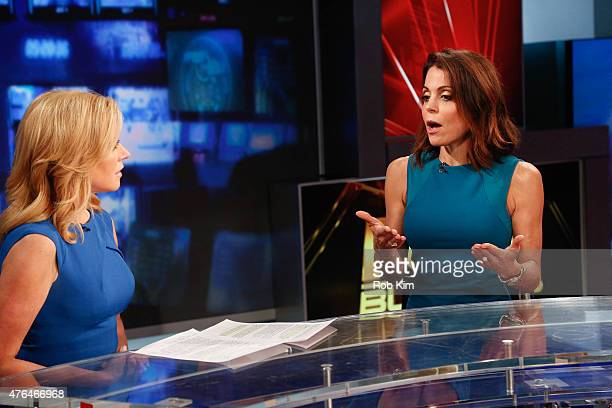 Bethenny Frankel visits After The Bell with host Melissa Francis on FOX Business Network at FOX Studios on June 9 2015 in New York City