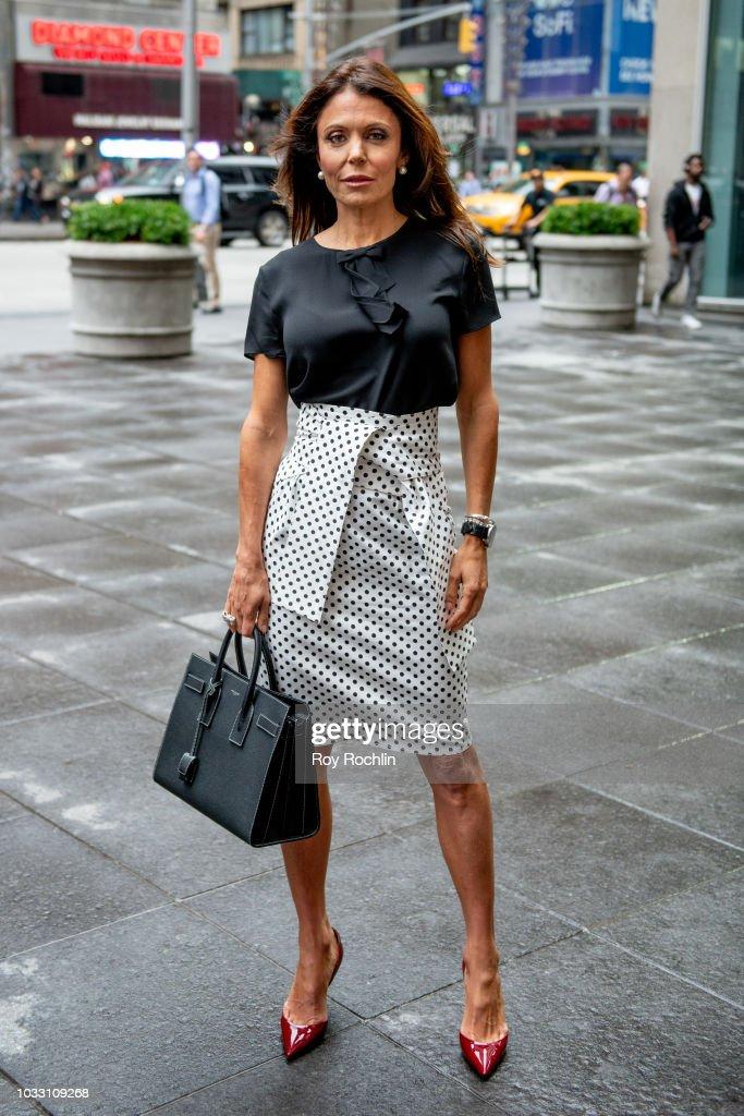 Bethenny Frankel visits Fox Business Network at Fox Business Network to discuss Hurricane Florence Studios on September 14, 2018 in New York City.