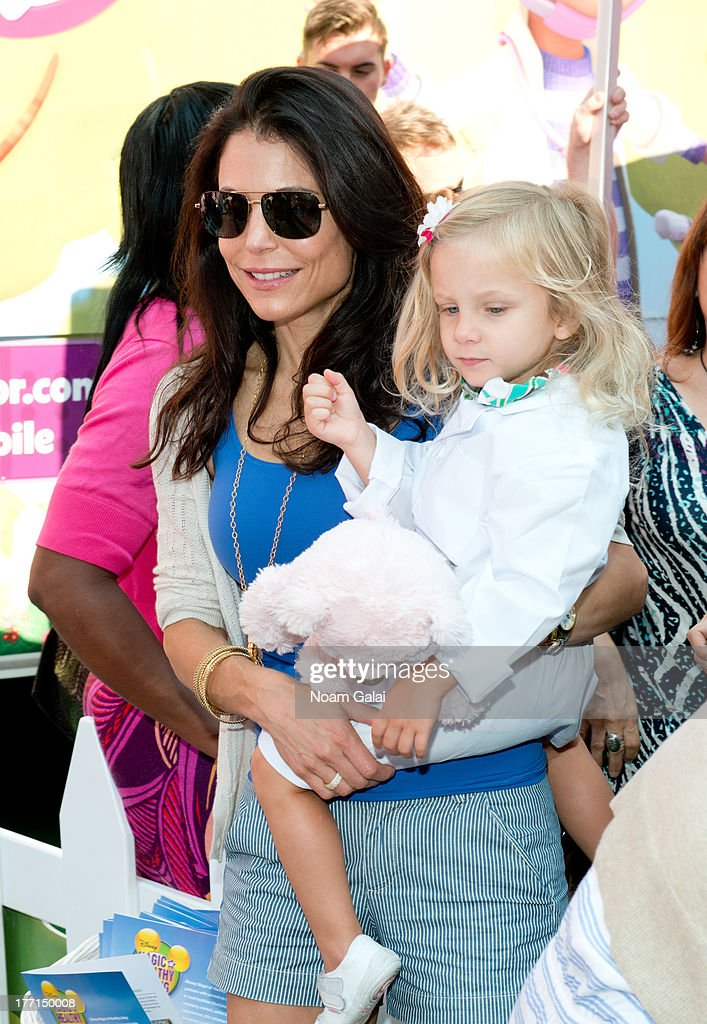 Bethenny Frankel (L) with daughter Bryn Hoppy attend the Doc Mobile Tour at the Disney Store on August 21, 2013 in New York City.