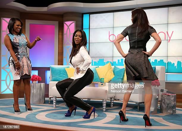 Bethenny Hosts Kandi Burruss Kenya Moore Retta Derek J and Carmen Electra at CBS Broadcast Center on November 7 2013 in New York City