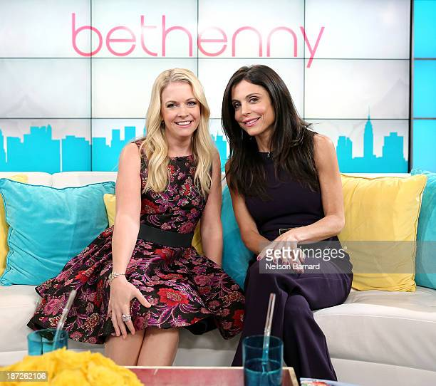 Bethenny Hosts Melissa Joan Hart at the CBS Broadcast Center on November 4 2013 in New York City