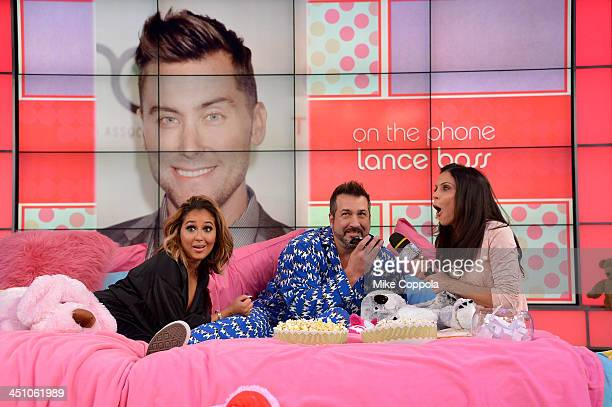 Bethenny Hosts Pajama Party With Adrienne Bailon Joey Fatone at CBS Broadcast Center on November 21 2013 in New York City
